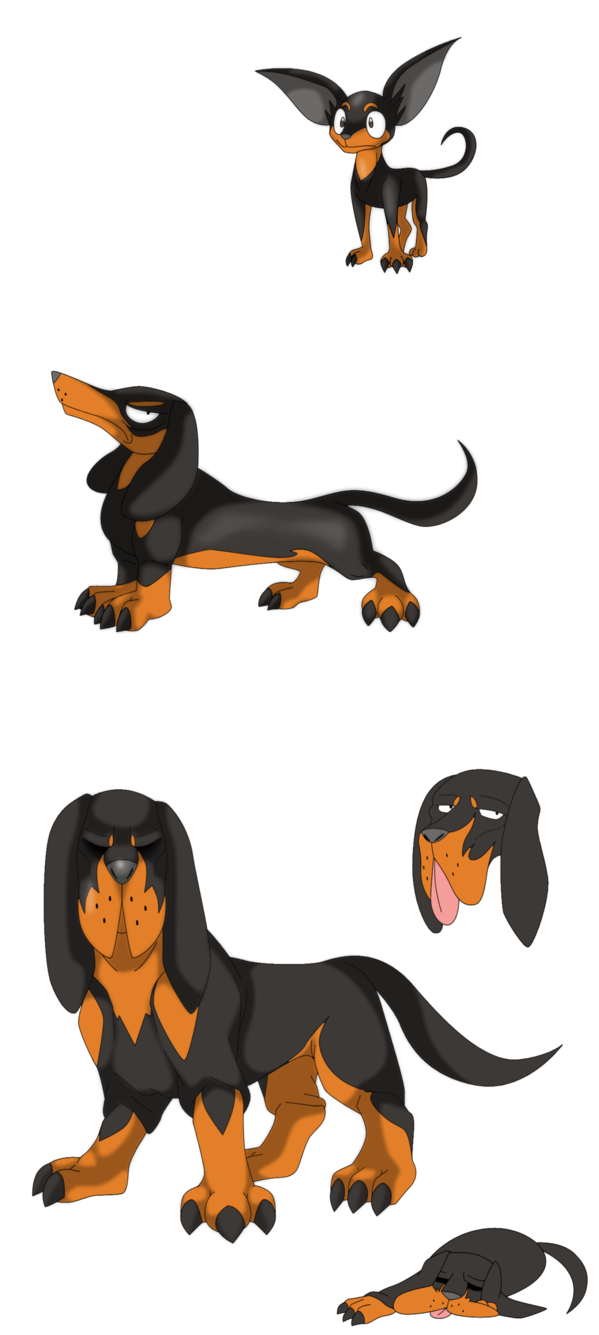 Dog sniffing ground clipart. Fakemon bow wow yippie