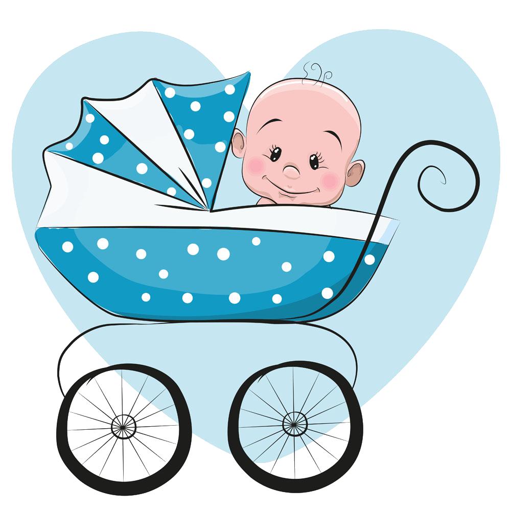 Dog stroller clipart image freeuse download Cartoon Infant Illustration - Blue baby stroller sitting 1000*1000 ... image freeuse download