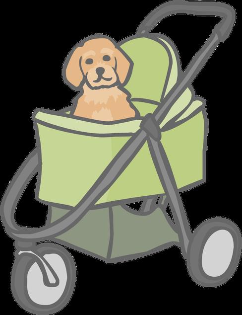 Dog stroller clipart svg Puppy Socialisation | That Dog Geek | Beacon Dog Training svg