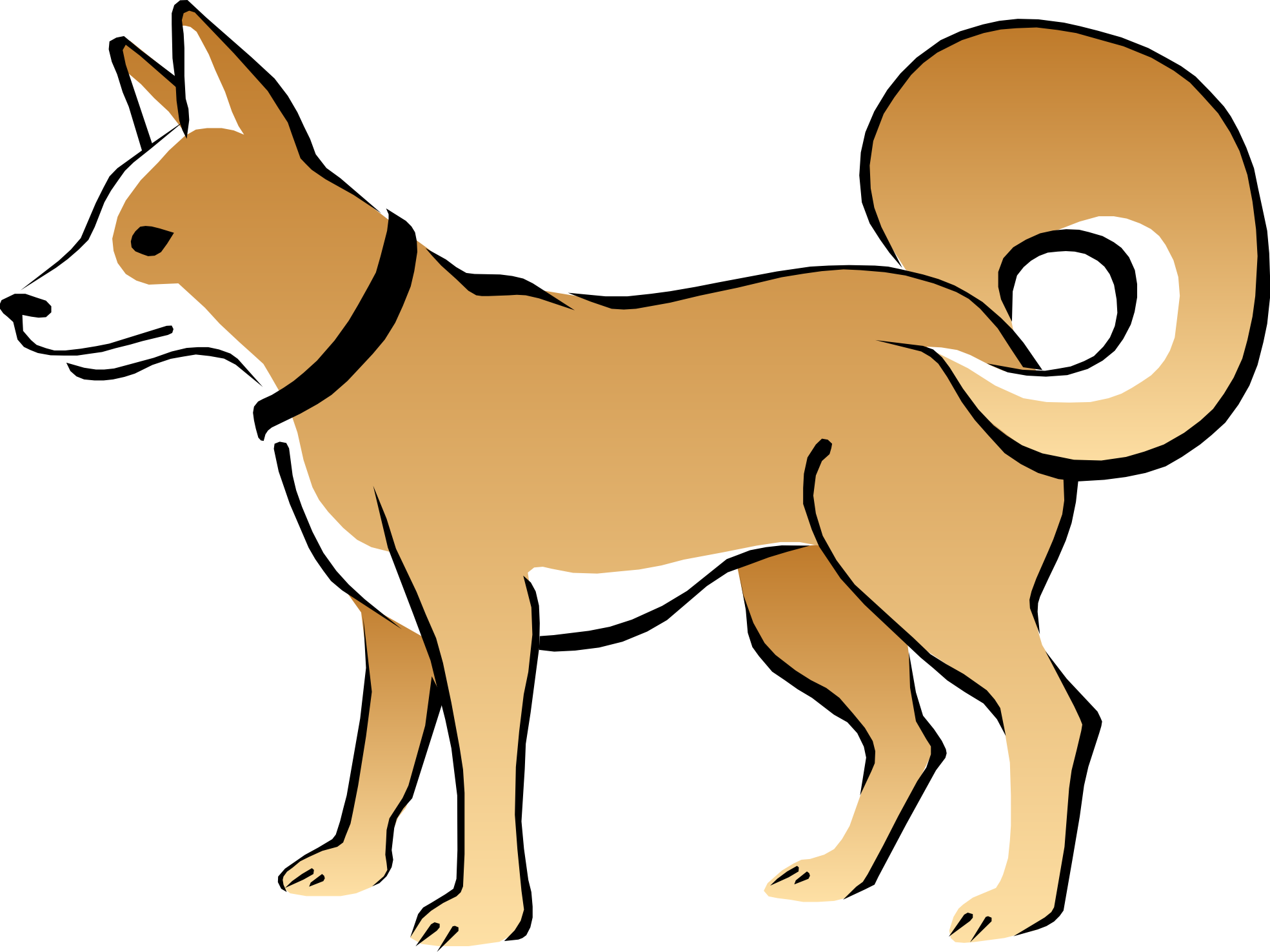 Dog sitting side view clipart clip art library Cute Dog And Cat Clip Art | Clipart Panda - Free Clipart Images ... clip art library