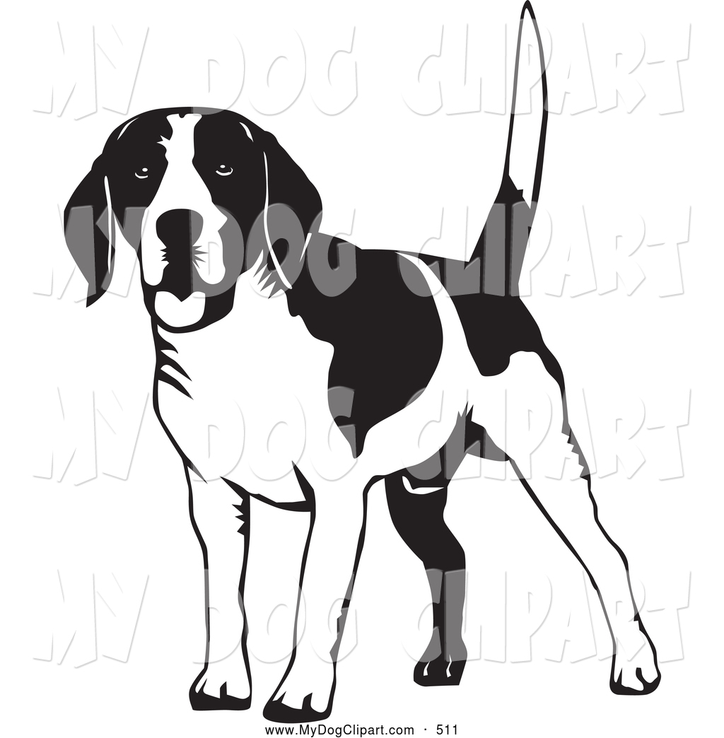 Dog tail clipart black and white picture transparent Clip Art Black And White Beagle Clipart - Clipart Kid picture transparent