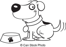 Dog tail clipart black and white. Clipartfest dish