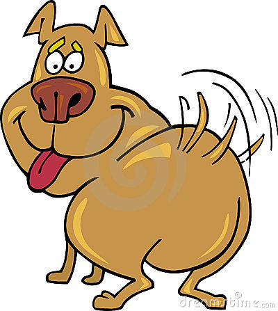 Dog tail wag clipart. Wagging his stock photo