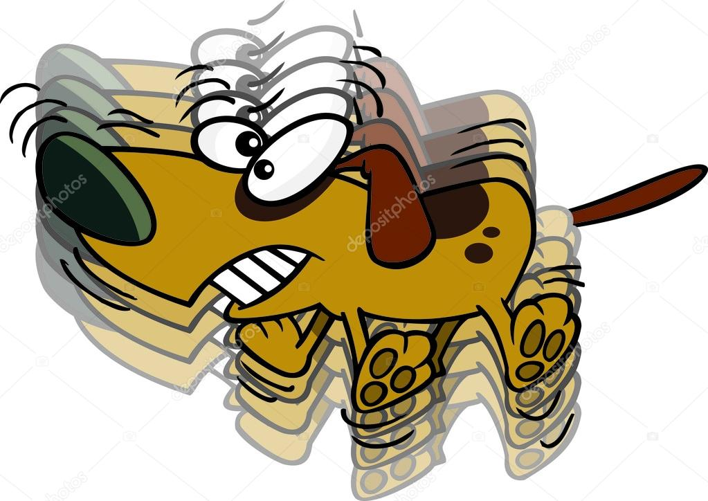 Dog tail wag clipart. Cartoon wagging the stock