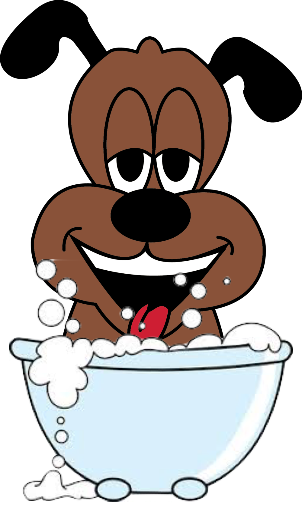 Dog taking a bath clipart picture black and white Dog's Day Out picture black and white