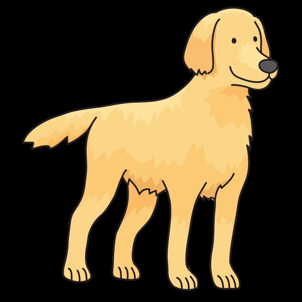 Dog taking a bath clipart vector download OnlineLabels Clip Art - Dog - Golden Retriever vector download