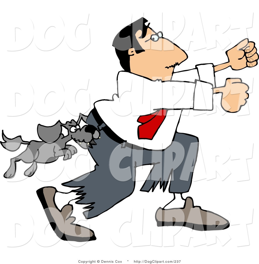 Domestic dogs small ankle. Dog the end clipart