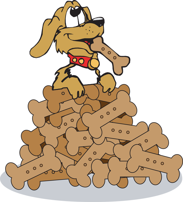 Dog eating treats clipart clipart download The end dog clipart - ClipartFest clipart download