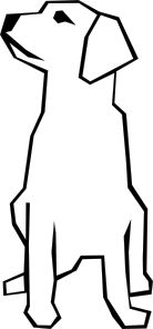 Simple drawing clip art. Dog the end clipart