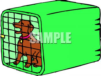 Dog the end clipart. Clipartfest cage