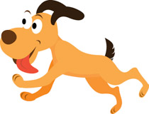 Free clip art pictures. Dog the end clipart