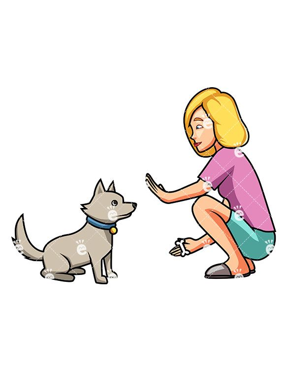 Dog training clipart high res free pics royalty free download A Woman Teaching Her Adorable Dog To Sit | Dog Training Clipart ... royalty free download