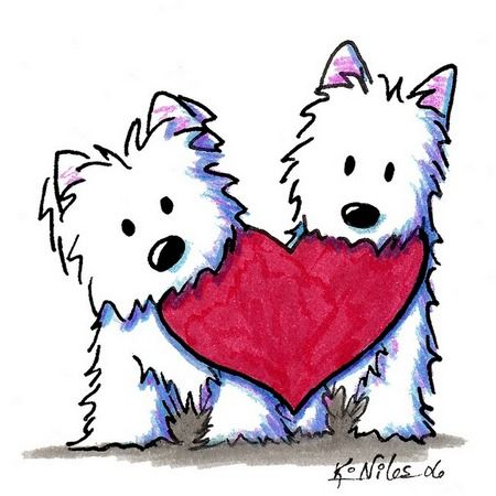 Valantines day cute dog clipart freeuse valentine\'s day westie | KiniArt | Valentines day dog, Westies ... freeuse
