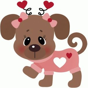 Dog valentines day clipart png black and white library Valentine dog in shirt | VALENTINES | Dog clip art, Puppy valentines ... png black and white library