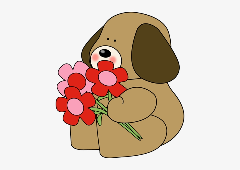 Dog valentines day clipart banner Dog Clipart Flower - Valentine\'s Day Flowers Clip Art - Free ... banner