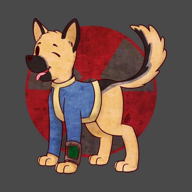 Dog vault clipart clip freeuse stock Vault Dog - Fallout Game - T-Shirt | TeePublic clip freeuse stock