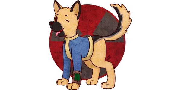 Dog vault clipart jpg download Vault Dog - Fallout Game - T-Shirt | TeePublic jpg download