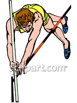 Dog vault clipart vector transparent Guy Pole Vaulting in a Track Meet Competition - Royalty Free Clip ... vector transparent