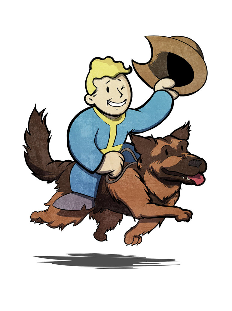 Dog vault clipart graphic transparent library Vault boy and Dogmeat by Martimakesthings on DeviantArt graphic transparent library