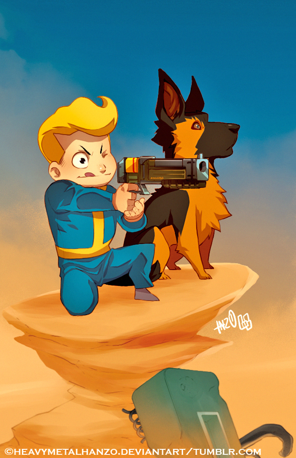 Dog vault clipart jpg free download The Adventures of Vault Boy and Dogmeat | Dogmeat | Know Your Meme jpg free download
