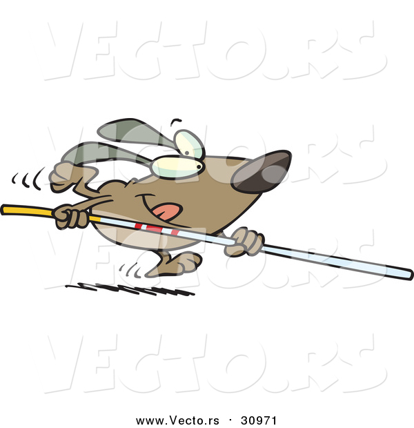Dog vault clipart banner free library Vector of a Confident Goofy Dog Running with Pole Vault - Cartoon ... banner free library