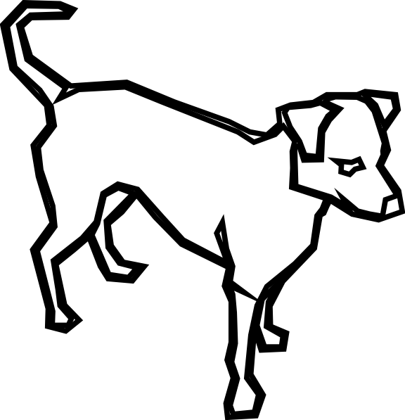 Wagging dog tail clipart clip art black and white stock Dog Outline Clip Art at Clker.com - vector clip art online, royalty ... clip art black and white stock