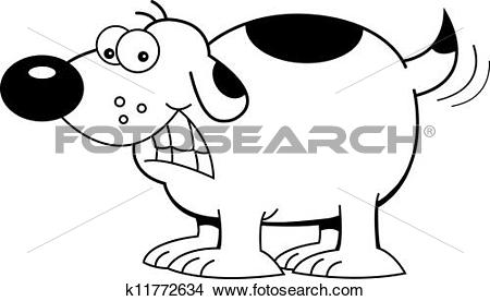 Dog wagging tail clipart picture royalty free Drawings of Cartoon Dog Wagging Tail (Black and k11772634 - Search ... picture royalty free