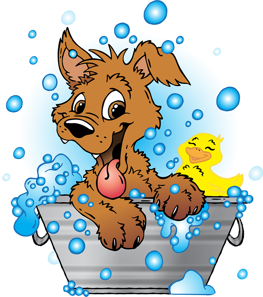 Dog wash clipart banner black and white stock Bath clipart dog wash ~ Frames ~ Illustrations ~ HD images ~ Photo ... banner black and white stock