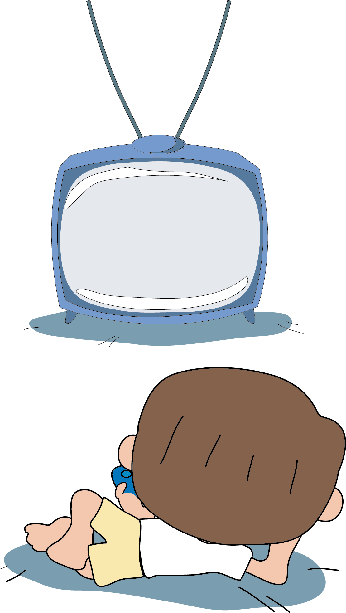 Watching football clipart