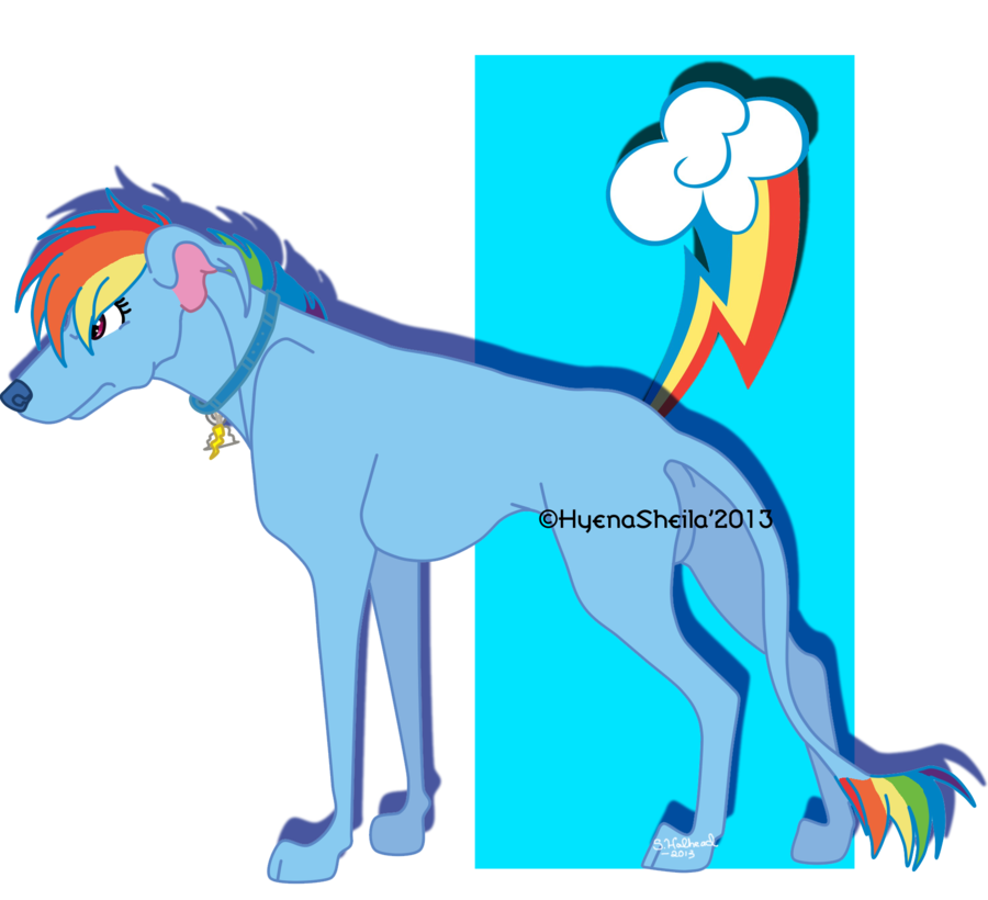Dog watching tv clipart svg black and white stock Rainbow Dash as a dog by Star--x on DeviantArt svg black and white stock