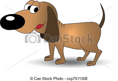 Dog with big ear clipart clip free Vector of Brown dog - Smiling brown dog with big ears vector ... clip free