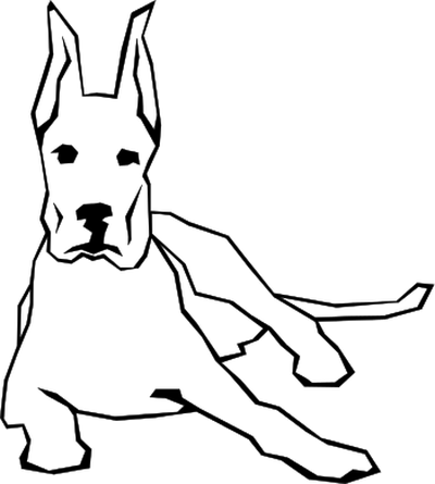 Dog with big ear clipart clipart black and white stock Big ear dog clipart black and white stock