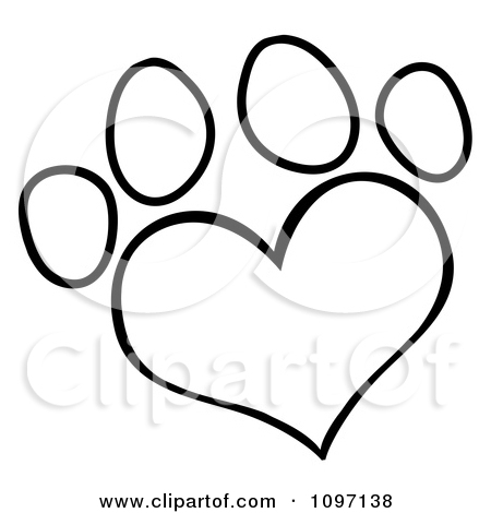 Dog with hearts clipart graphic free stock Clipart of a Black and White Silhouetted Canine over a Bone with I ... graphic free stock