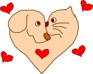 Dog with hearts clipart clip art library library Heart dog clipart - ClipartFox clip art library library