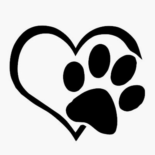 Dog with hearts clipart svg stock 17 Best ideas about Dog Silhouette on Pinterest | Vinyl decals ... svg stock