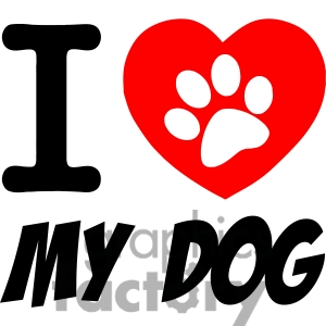 Dog with hearts clipart picture transparent download Heart dog clipart - ClipartFox picture transparent download