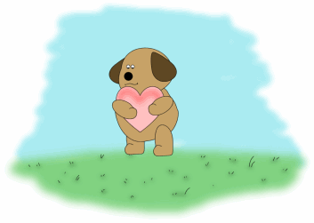 Dog with hearts clipart clipart freeuse Dog Clip Art - Dog Images clipart freeuse