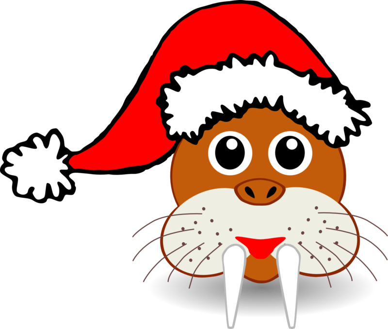 Dog with santa hat clipart. Free images photos download