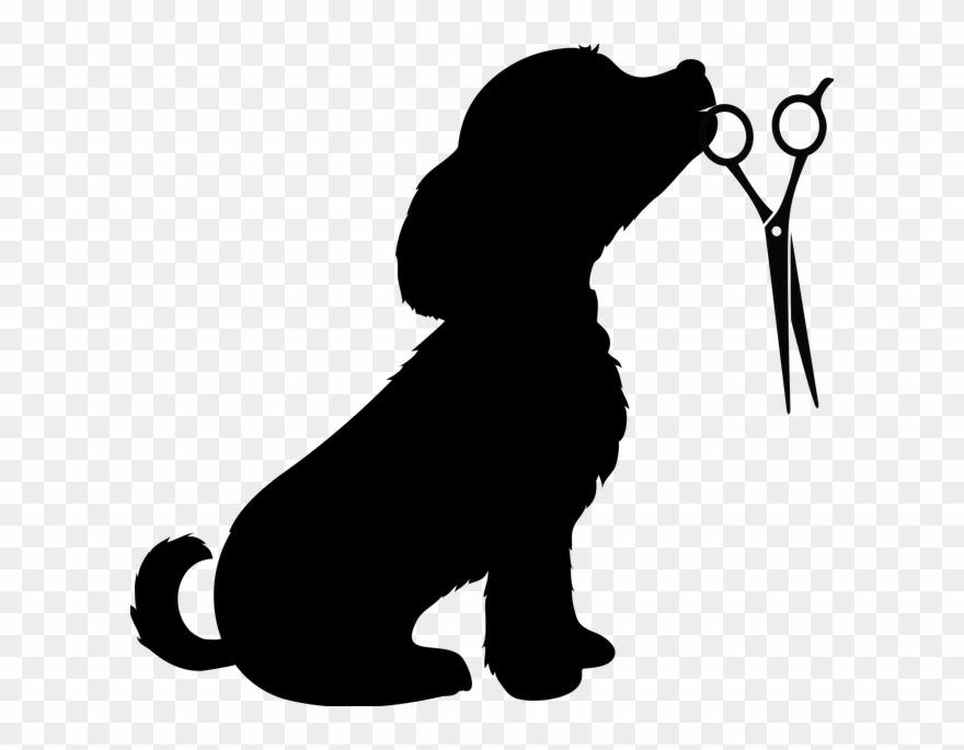 Dog with scarf clipart black and white clipart black and white stock Dog Bandana Clip Art Freeuse - Silhouette Of Dog - Png Download ... clipart black and white stock