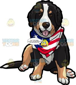 Dog with scarf clipart black and white free download An American Patriotic Dog free download