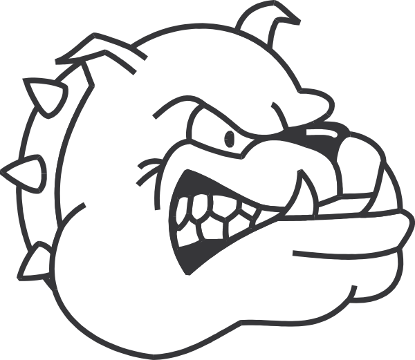 Dog with spiked collar clipart jpg royalty free Angry Bulldog Outline Clip Art at Clker.com - vector clip art online ... jpg royalty free