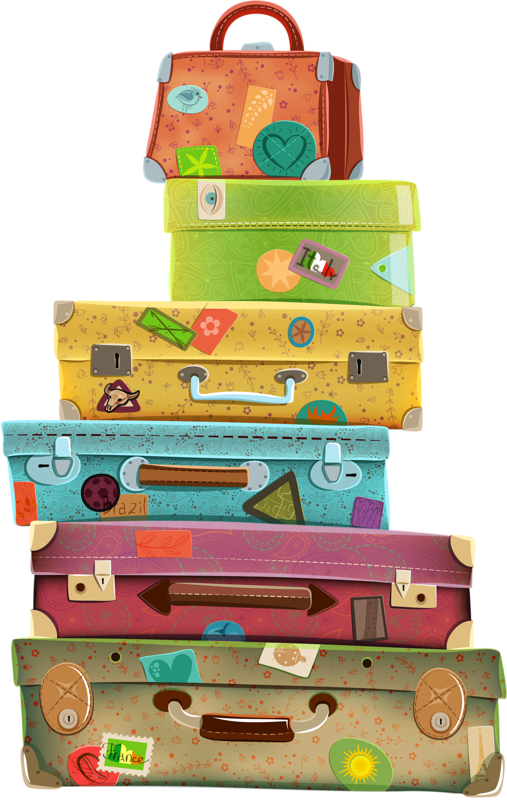 Packing a car clipart vector free a3ua_f7hp_140813 [преобразованный].png | Pinterest | Suitcase, Clip ... vector free