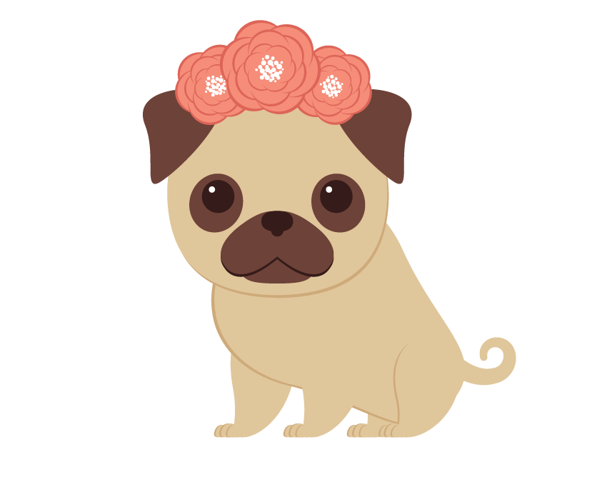 Dog wreath clipart transparent download creating the wreath and placing on the pugs head | Dog | Pinterest ... transparent download