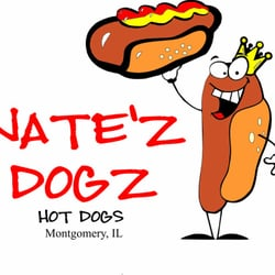 Dog yelp clipart graphic black and white Nate'z Dogz Hot Dogs - Food Trucks - Montgomery, IL - Restaurant ... graphic black and white
