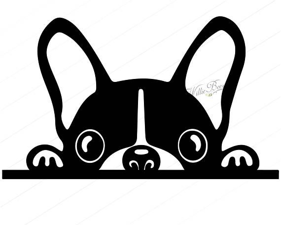 Canine clipart picture free download Peeking Dog SVG Silhouette Clipart, Canine Clipart Image, Light ... picture free download