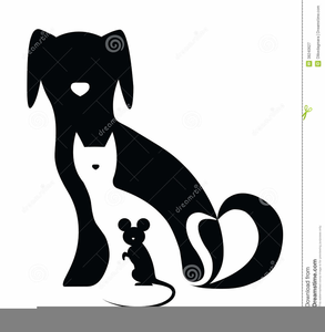 Dogs cats clipart free jpg transparent stock Silhouette Of Dog And Cat Clipart | Free Images at Clker.com ... jpg transparent stock