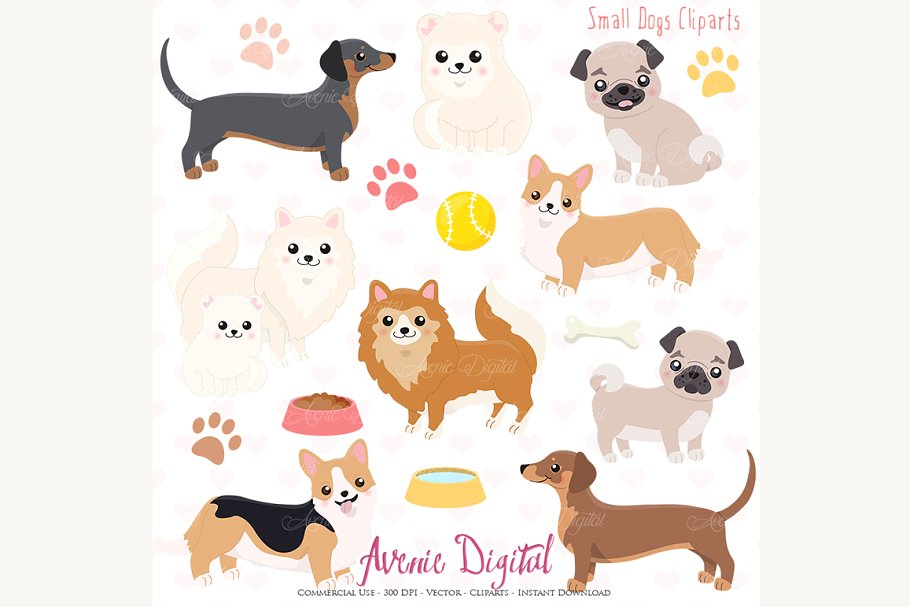 Dogs clipart png free download Cute Dogs Clipart and Vectors png free download