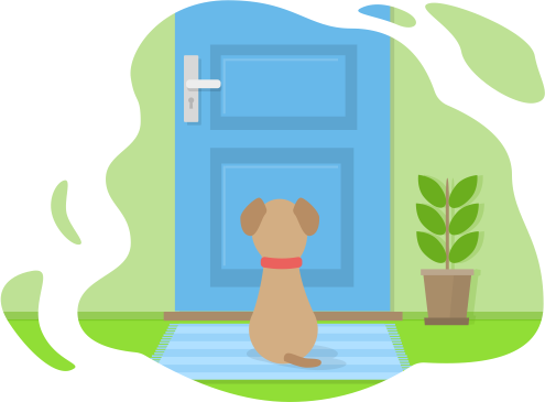 Dogs sitting on a fence with tails clipart back view svg transparent Dog Separation Anxiety Guide svg transparent