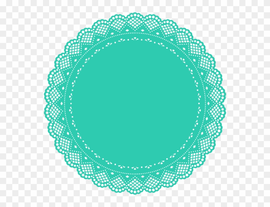 Doily clipart png black and white stock Turquoise Doily Clip Art - Lace Circle Clip Art - Png Download ... png black and white stock