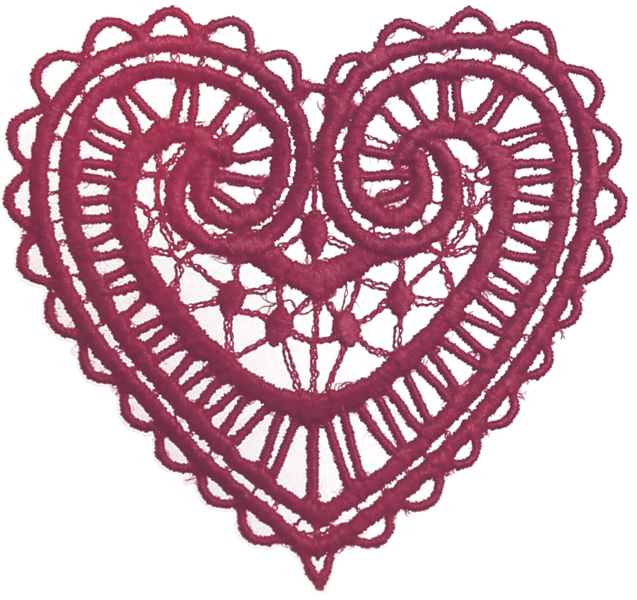 Heart lace clipart vector black and white download Lace Heart Transparent Clipart vector black and white download